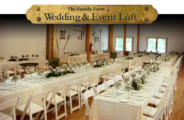 Family farm event loft wedding